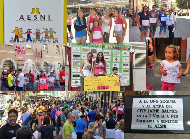 Volta a Peu Solidaria por AESNI, Valencia. Mayo 2015